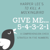 To Kill a Mockingbird Chapter Comprehension Strategy in 5 Numbers