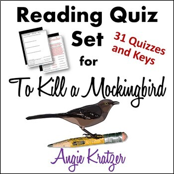 To Kill a Mockingbird Chapter Reading Quiz Set