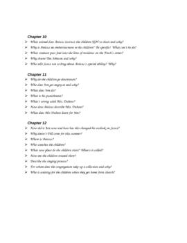 To Kill a Mockingbird Chapters 10 - 12 quiz