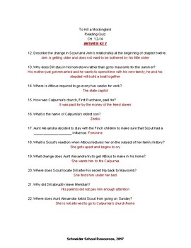 to kill a mockingbird chapter questions answers