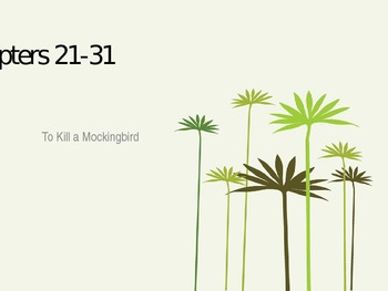 To Kill a Mockingbird: Chapters 21-31 PowerPoint