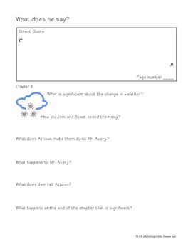 To Kill a Mockingbird Chapters 6-11