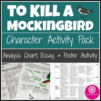 To Kill a Mockingbird Activity With Character Analysis, Poster Activity & Essay