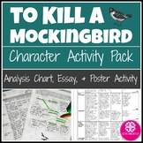 To Kill a Mockingbird Characters with Analysis, Poster Activity & Essay