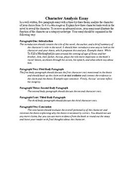 character analysis essay of to kill a mockingbird