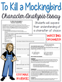 To Kill a Mockingbird: Character Analysis, Five-Paragraph Essay
