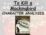 To Kill a Mockingbird Character Analysis Posters