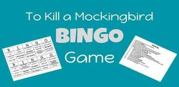To Kill a Mockingbird Character BINGO