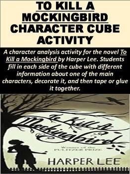 To Kill a Mockingbird Character Cube Activity
