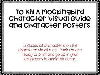 To Kill a Mockingbird Character Posters and Character Map