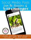 To Kill a Mockingbird Characters' Social Media Posts Posters