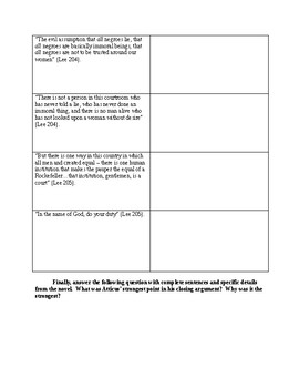 To Kill a Mockingbird - Close Reading/Analysis Activity - CCSS Aligned