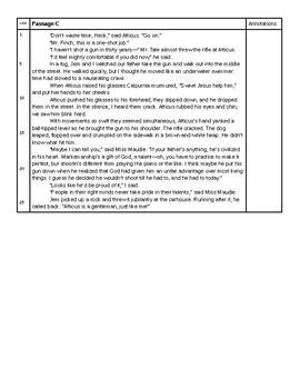 To Kill a Mockingbird Close Reading Skills Quiz, Chapter 10