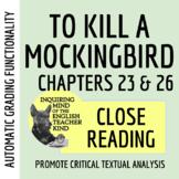 To Kill a Mockingbird Close Reading Worksheet - Chapters 23 & 26 (ACT Prep)
