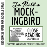 To Kill a Mockingbird Close Reading Worksheet - Chapter 18 (ACT Prep)