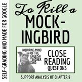 To Kill a Mockingbird Close Reading Worksheet - Chapter 9 (ACT Prep)