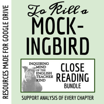 To Kill a Mockingbird Close Reading Worksheets Bundle (Set of 15)