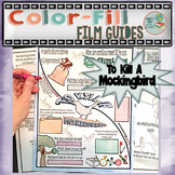 To Kill a Mockingbird Color-Fill Film Guide Doodle Notes