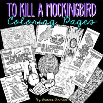 To Kill a Mockingbird Coloring Pages & Bookmarks