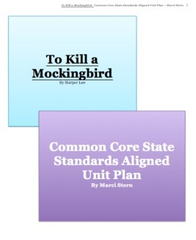 To Kill a Mockingbird - Common Core State Standards Aligned Unit Plan