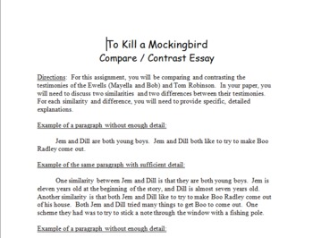 To Kill A Mockingbird Compare And Contrast Essay Format By Hillary  To Kill A Mockingbird Compare And Contrast Essay Format Project Management Assignment Help also Buy Literature Review  Thesis Example For Compare And Contrast Essay