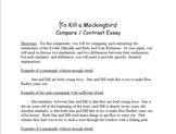 To Kill a Mockingbird Compare and Contrast Essay Format
