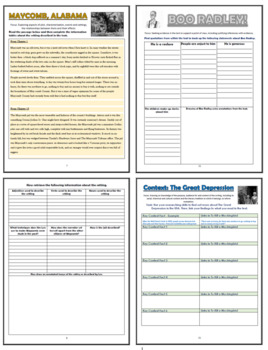 To Kill a Mockingbird Comprehension Activities Booklet!