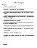 To Kill a Mockingbird Comprehension Questions