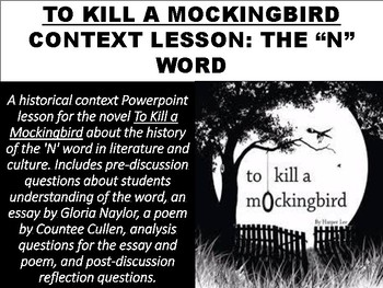 To Kill a Mockingbird Context Lesson: The 'N' Word