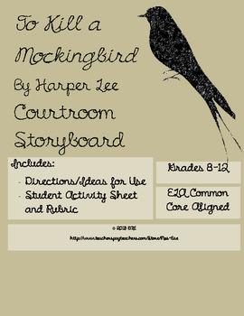 To Kill a Mockingbird Courtroom Storyboard