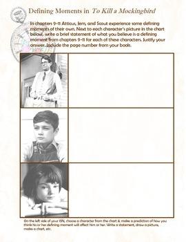 To Kill a Mockingbird Defining Moments - Interactive Student Notebook Insert