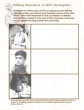 To Kill a Mockingbird Defining Moments - Interactive Student Notebook Insert