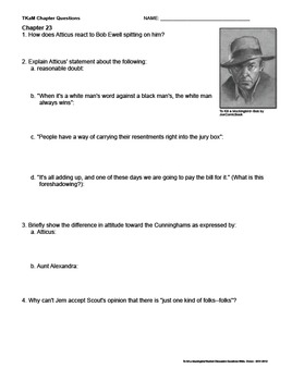 To Kill a Mockingbird Discussion Questions & Answers