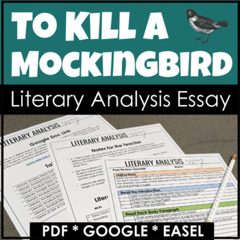 to kill a mockingbird essay unit for literary analysis writing tpt to kill a mockingbird essay unit for literary analysis writing