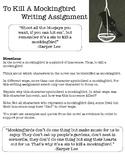To Kill a Mockingbird Essay Prompt
