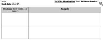 To Kill a Mockingbird Evidence Tracker
