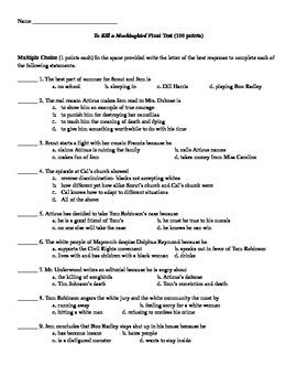To Kill a Mockingbird Examination