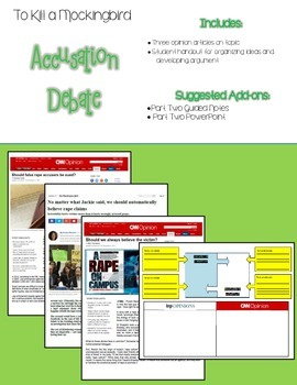 To Kill a Mockingbird Extension Activity: Accusation Discussion