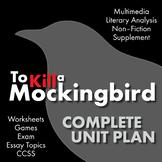 To Kill a Mockingbird Unit Plan, Harper Lee Novel Unit Stu