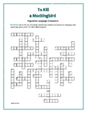 To Kill a Mockingbird: Figurative Language Crossword—Fun Intro to Fig. Language!