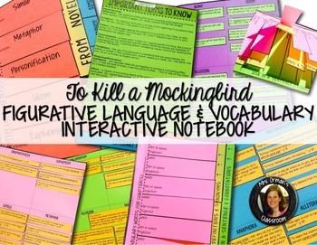 To Kill a Mockingbird Figurative Language & Vocabulary Interactive Notebook