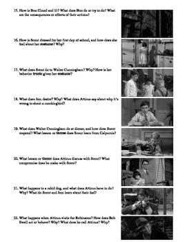 To Kill a Mockingbird Film (1962) Study Guide Movie Packet