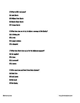 To Kill a Mockingbird Final Exam Test