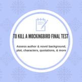 To Kill a Mockingbird Test EDITABLE--75 Questions & Answer Key