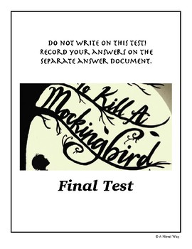 To Kill a Mockingbird Final Test/Exam