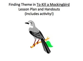 To Kill a Mockingbird: Finding Theme Lesson Plan & Graphic Organizer