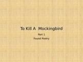 To Kill a Mockingbird Found Poetry Project