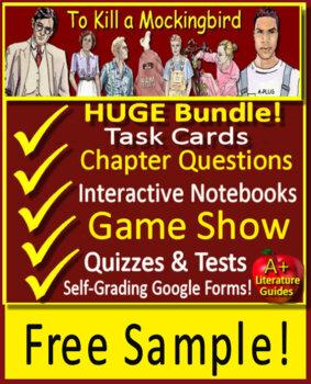 To Kill a Mockingbird Novel Study - FREE Sample!