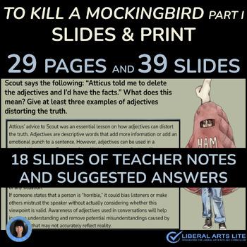 To Kill a Mockingbird (Google Classroom Interactive Component) (PART ONE)