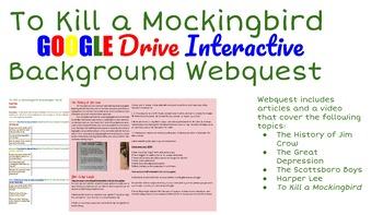 To Kill a Mockingbird Google Interactive Background Webquest